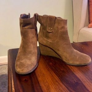 Lucky brand booties- wedge heel